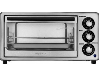 50% off Insignia 4-Slice Toaster Oven - Stainless Steel