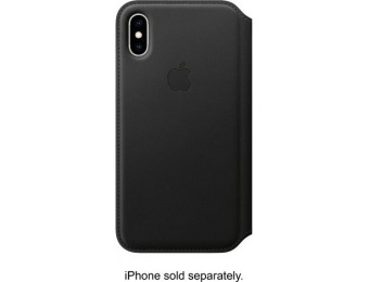 $50 off Apple iPhone XS Leather Folio - Black