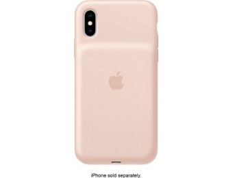 $65 off Apple iPhone XS Smart Battery Case - Pink Sand