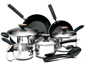 $101 off Paula Deen Signature Stainless Steel II 12-Pc Cookware Set