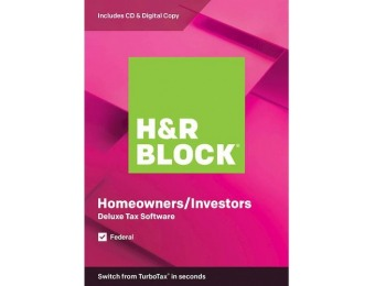 50% off H&R Block Deluxe Tax Software - Mac|Windows