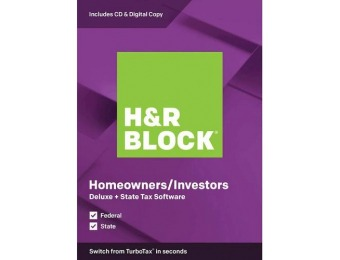40% off H&R Block Deluxe + State Tax Software - Mac|Windows