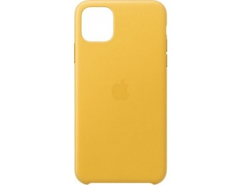 50% off Apple iPhone 11 Pro Max Leather Case - Meyer Lemon