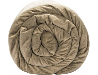 $70 off BlanQuil 15-lb Quilted Weighted Blanket - Taupe
