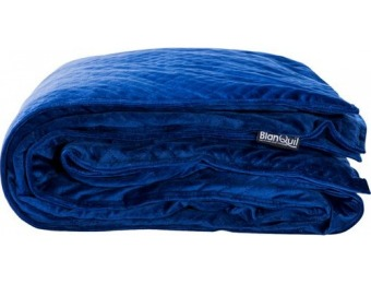 $70 off BlanQuil 15 lb Quilted Weighted Blanket - Navy