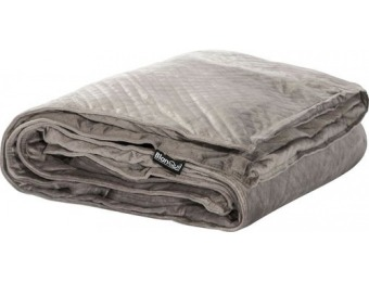 $70 off BlanQuil 15 lb Quilted Weighted Blanket - Gray