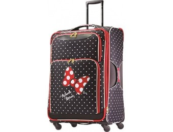 "$75 off American Tourister Disney 28"" Spinner - Minnie Mouse Red Bow"