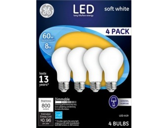 62% off GE 800-Lumen, 8W Dimmable LED Light Bulb