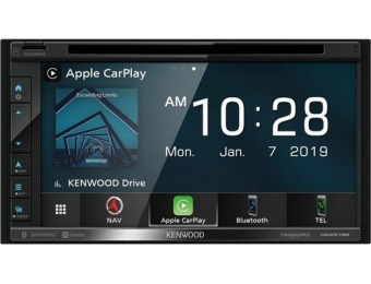 "$300 off Kenwood 6.8"" GPS Bluetooth In-Dash CD/DVD/DM Receiver"