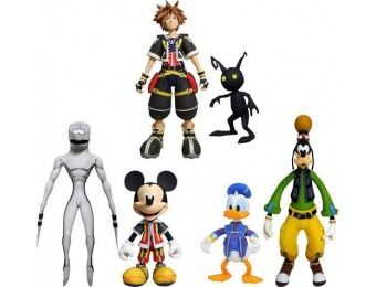 50% off Kingdom Hearts Best of Series Action Figures Set