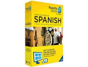 $80 off Rosetta Stone Learn UNLIMITED Languages with 1 Year Access