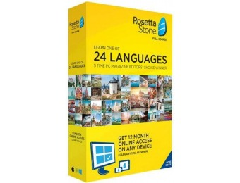 $80 off Rosetta Stone Learn UNLIMITED Languages