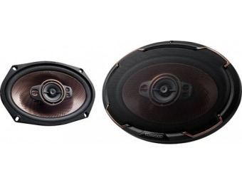 "$50 off Kenwood 6"" x 9"" 5-Way Car Speaker"