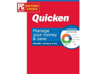50% off Quicken Deluxe Personal Finance - Mac|Windows
