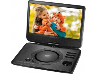 "$40 off Insignia 10"" Portable DVD Player with Swivel Screen"