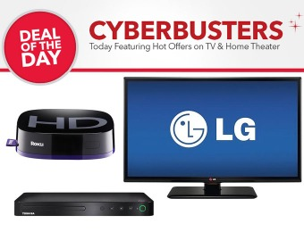TV & Home Theater Cyberbusters - Hot Deals on HDTVs & Accessories