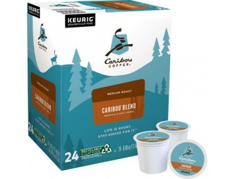 $4 off Caribou Coffee Blend Medium K-Cup Pods (24-Pack)