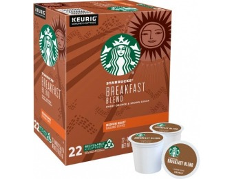 $4 off Starbucks Breakfast Blend Medium K-Cup Pods (22-Pack)