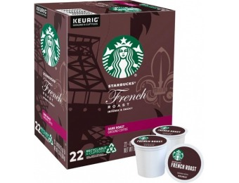 $4 off Starbucks French Roast Dark K-Cup Pods (22-Pack)