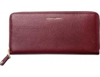 $75 off Hook & Albert Zip-Around Wallet - Bordeaux
