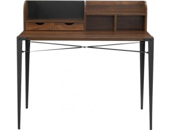 $97 off Walker Edison Industrial Secretary Desk with Hutch