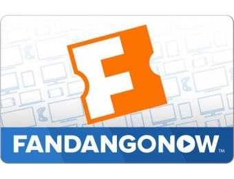 $5 off FandangoNOW $25 Gift Code (Immediate Delivery)