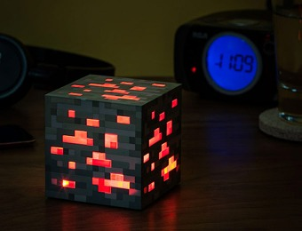 59% off Minecraft Light-Up Redstone Ore