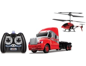 70% off MegaHauler 3.5CH Helicopter & RC Truck Combo Pack