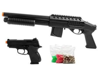 75% off Mossberg M500 Shotgun & .45 Pistol Airsoft Combo Pack