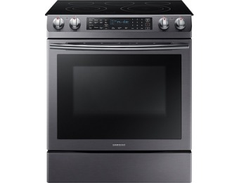 $532 off Samsung Self-Cleaning Slide-In Electric Convection Range