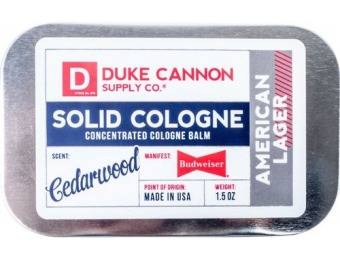 24% off Duke Cannon American Lager Solid Cologne Balm