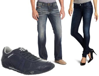50% off Men's and Women's Diesel Jeans and Diesel Shoes