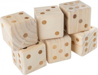 60% off Wakeman Giant Wooden Yard Dice Outdoor Lawn Game