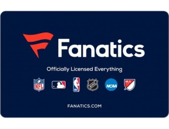 $10 off Fanatics $50 Gift Code (Digital Delivery)