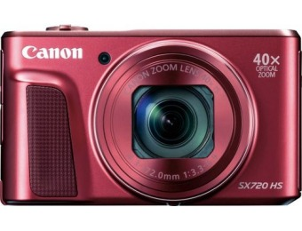 $80 off Canon PowerShot SX720 HS 20.3-MP Digital Camera, Refurb