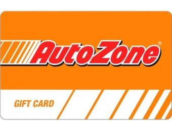 15% off AutoZone - $25 Gift Card