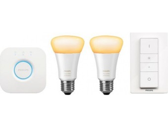 50% Off Philips Hue White Ambiance A19 2PK Kit