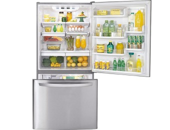 $500 off LG 22.4 Cu Ft Bottom Mount Stainless-Steel Refrigerator