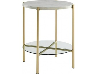 $54 off Walker Edison Modern Round Side/End Table