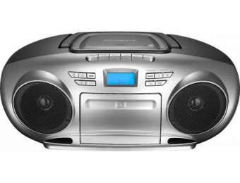 $20 off Insignia AM/FM Radio Portable Bluetooth CD Boombox