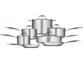 $219 off Tramontina Gourmet Tri-Ply Clad 12-Piece Cookware Set