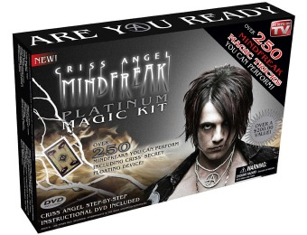 $45 off Criss Angel MindFreak Platinum Magic Kit w/ DVD