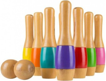 $40 off Hey! Play! Wooden Lawn Bowling Game