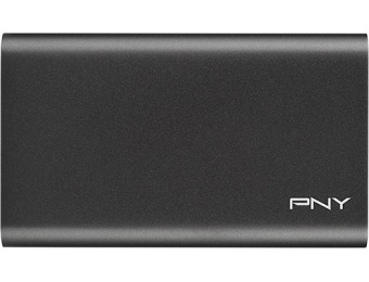 70% off PNY Elite 240GB External USB 3.0 Portable SSD - Aluminum