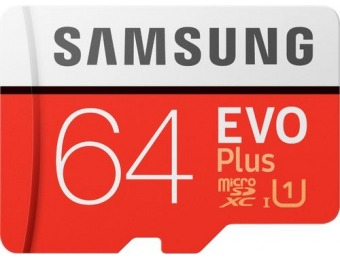 44% off Samsung EVO Plus 64GB microSDXC UHS-I Memory Card
