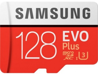 50% off Samsung EVO Plus 128GB microSDXC UHS-I Memory Card