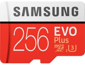 45% off Samsung EVO Plus 256GB microSDXC UHS-I Memory Card
