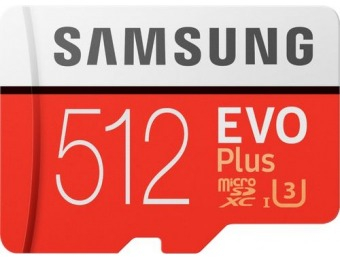$40 off Samsung EVO Plus 512GB microSDXC UHS-I Memory Card