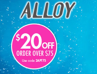 $20 off orders over $75 with Alloy Coupon Code 2APT75