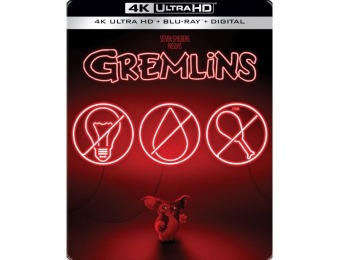 55% off Gremlins [SteelBook] 4K Ultra HD Blu-ray/Blu-ray